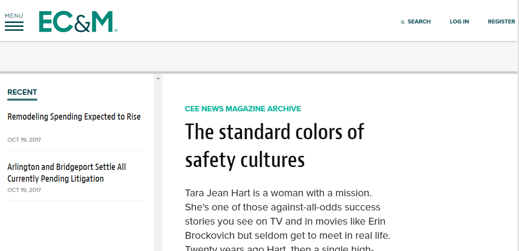 The standard colors of safety cultures